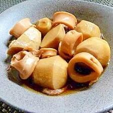 かき醤油で味付け入らず!ヤリイカと里芋の簡単煮物