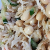 大豆たっぷり☆切り干し大根ときゅうりの中華サラダ