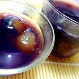 ナガノパープルとナタデココ入り葡萄ゼリー