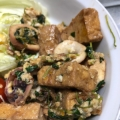 豆腐&豆苗のチャンプルー♪