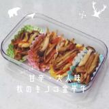 弁当【秋のキノコ入りきんぴらゴボウ】甘辛・大人味