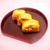 小松菜とじゃがいもの卵焼き