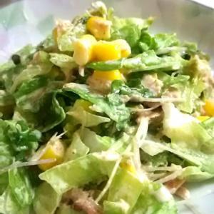 ツナコーンのレタスサラダ