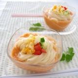 ガスパチョうどん(冷製トマトスープうどん)