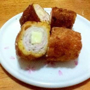 豚肉のチーズ巻きフライ