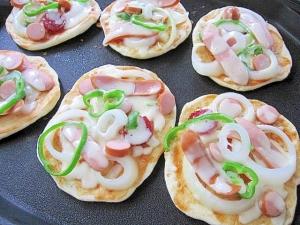 ホットプレートピザ