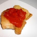 塩さばのたっぷりトマトソース