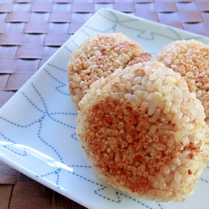 フライパンで♪焼きおにぎり✿玄米ごはん編