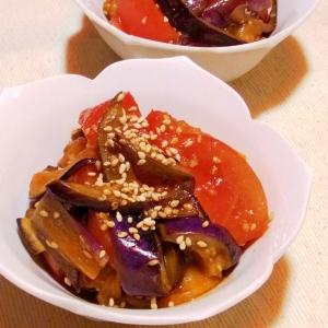 副菜に☆トマトとナスの韓国風和え物