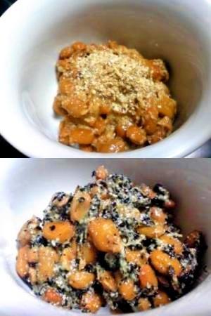 納豆の食べ方-すりごま♪
