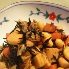 大豆と●ひじきの煮物~竹の子入り