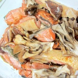 鮭ときのこの焼き漬け