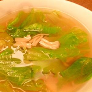 干し貝柱とレタスのスープ