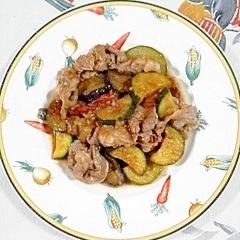 牛バラ肉と、夏野菜の炒め物
