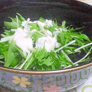 ヨーグルトで減塩♪水菜サラダ