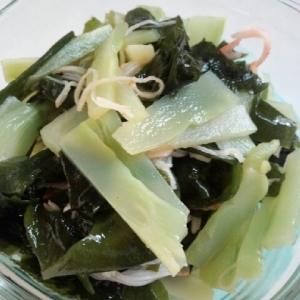 ブロッコリーの茎の酢の物