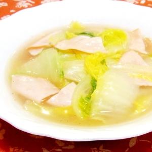 白菜とハムの中華煮