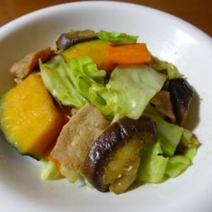 スパイシー!野菜たっぷりカレー炒め