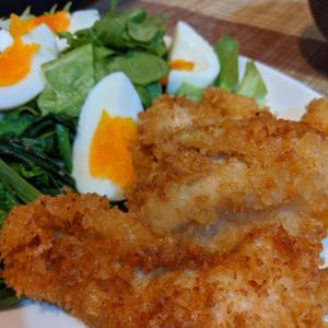 タレが美味♡家族に大好評♡卵不使用の鶏胸肉タレカツ