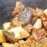 牛肉となすとエリンギの味噌炒め