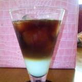 見た目がキュート二層のアイスコーヒー