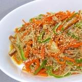 白滝と野菜の海鮮風味炒め++