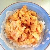残った天ぷらで簡単天丼
