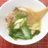ダシダ入り★椎茸とチンゲンサイのスープ♪