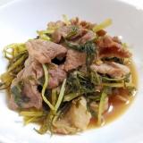 ご飯がすすむ☆豚肉と水菜の甘辛蒸し煮