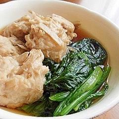 ごぼう入り鶏団子の煮物