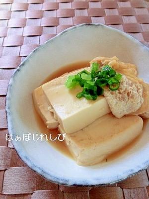やさしいお味♪豆腐と油揚げの甘辛煮