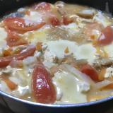 前日の残りの鍋で、チーズグラタン