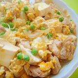 豆腐と鶏肉の卵とじ