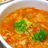 野菜不足解消!具だくさんトマトスープ