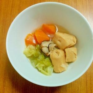 圧力鍋て簡単♪野菜と高野豆腐の甘煮