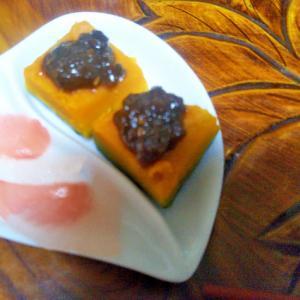 肉味噌かぼちゃ&甘酢大根生姜のおつまみ