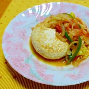 ヘルシーチキンハンバーグと野菜のトマト蒸し