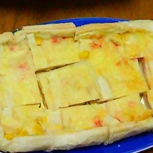 冷凍パイシートでカニグラタンパイ