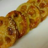 レンコンとさつま芋のはさみ焼き