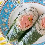 魚肉ソーセージのキムチ巻き