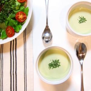 夏にオススメ!枝豆と豆乳の冷製スープ♡