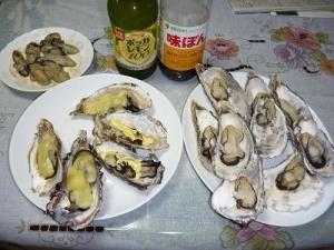 殻付き牡蠣は、レンジでチンが簡単。