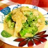 簡単☆ブロッコリーとタラのクリーム煮カルボナーラ風