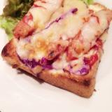 【カフェごはん】チョリソーのピザトースト