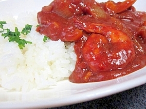 エビとトマトが好き系・・・なシーフードカレー