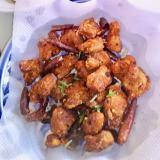 辣子鶏(ラーツージー,ラーズージー)ご飯がすすむ!