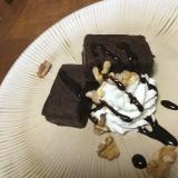 チョコブラウニーのカフェ風