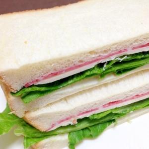 朝食に☆ハムとチーズのサンドイッチ