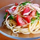 トマトの簡単冷製パスタ