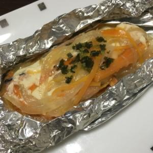 鮭のホイル焼き!味噌マヨネーズ